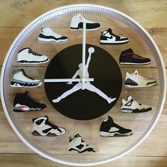 d84f3bba42c5 Jordan Sneaker Wall Clock